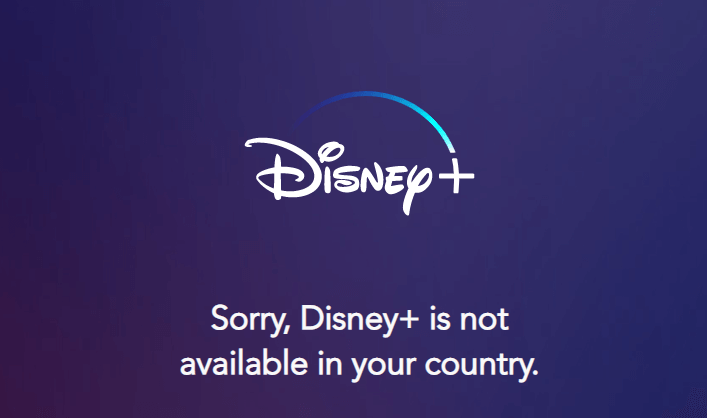 Disney Plus geo-restriction error