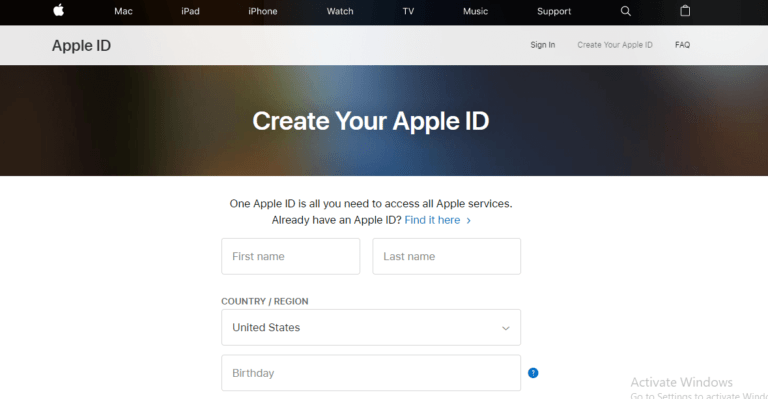 Creating Apple ID to Get Disney+ Account 1